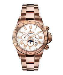 Rose gold-tone stainless steel watch