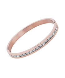 24ct rose gold-plated crystal bangle