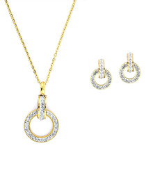 2pc 24ct gold-plated earrings & necklace