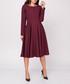 Maroon long sleeve flared dress Sale - NAOKO Sale