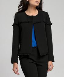 Black frill trim jacket