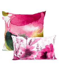 2pc Cassia white cotton cushion covers