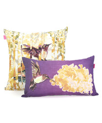 2pc Mimosa cotton cushion covers