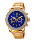 Gold-tone & blue crystal watch Sale - Joshua & Sons Sale