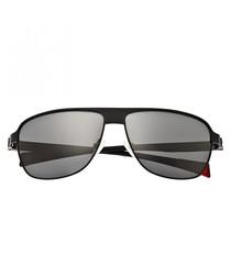 Hardwell gunmetal sunglasses