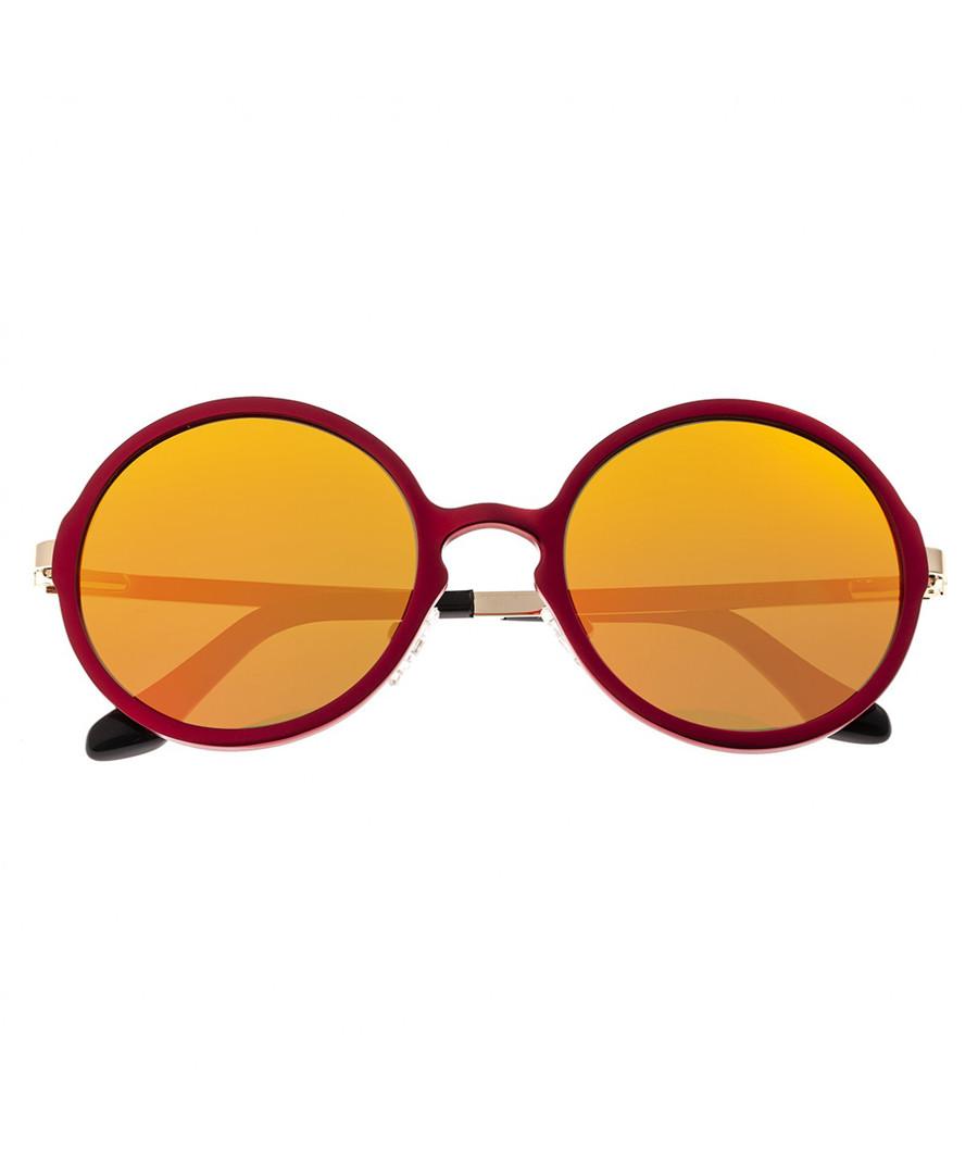 Corvus red & yellow round sunglasses Sale - breed