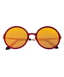 Corvus red & yellow round sunglasses