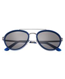 Gemini silver-tone round sunglasses