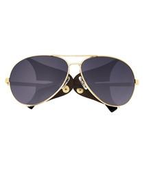 Eclipse gold-tone & black sunglasses
