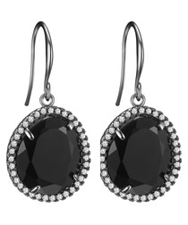 Anthracite crystal drop earrings