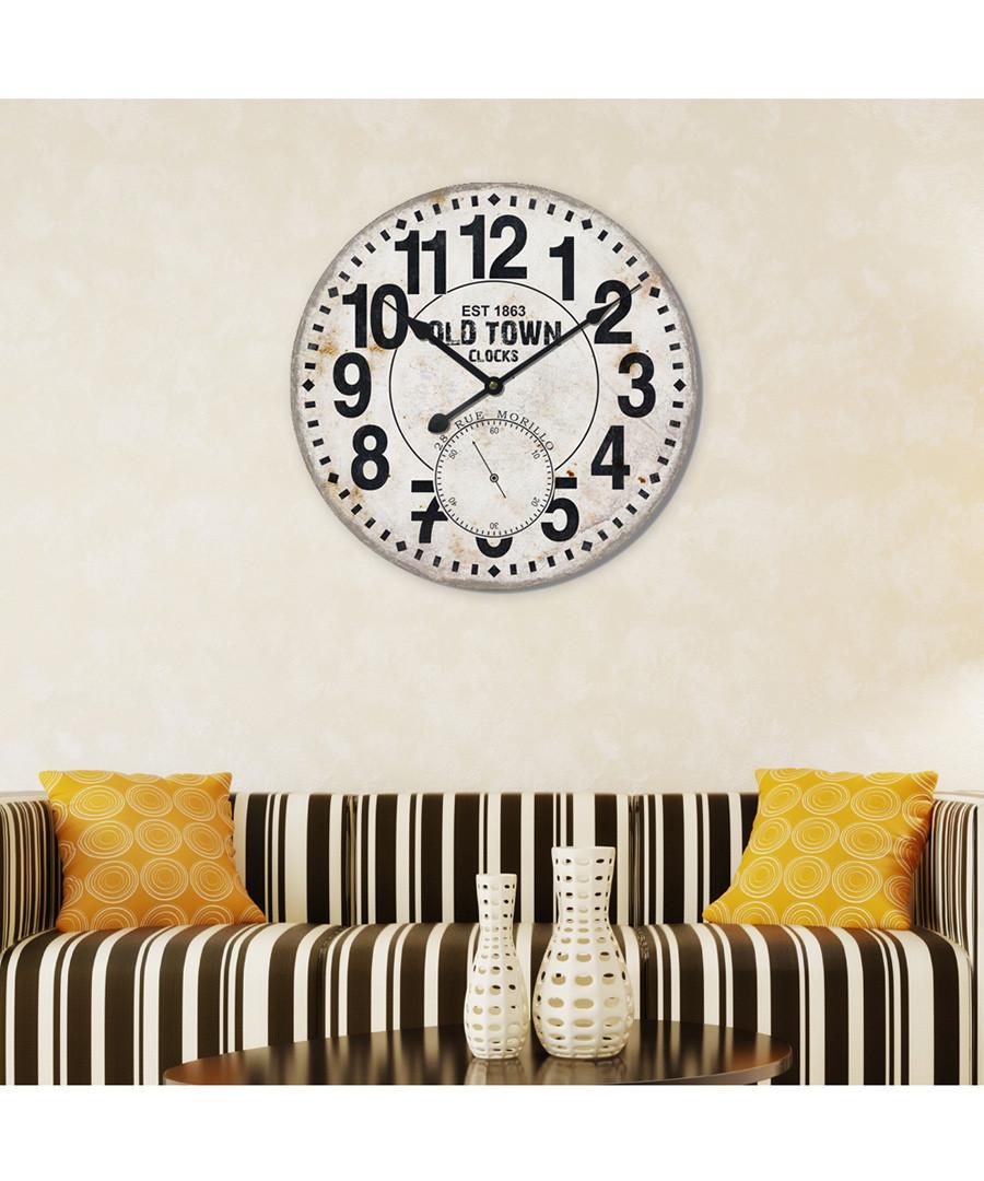 Black & white wall clock Sale - Walplus