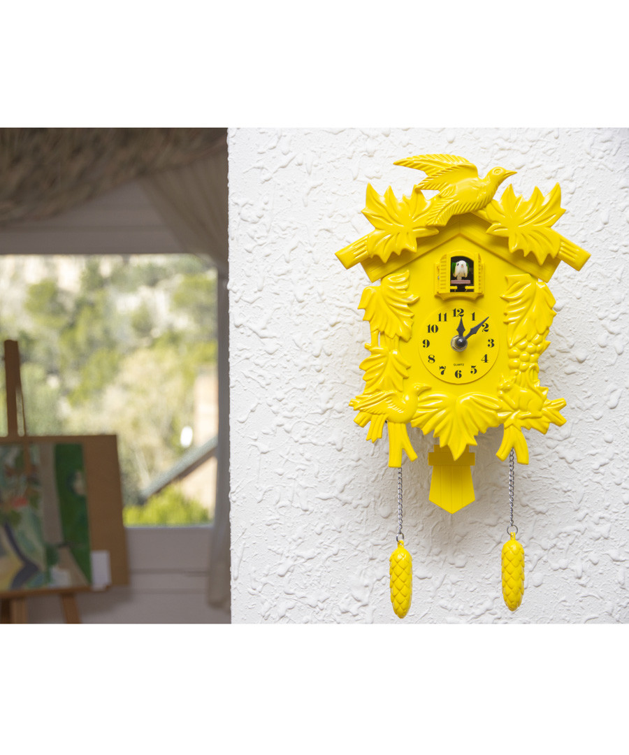 Yellow cuckoo clock Sale - Walplus