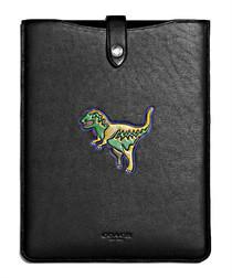 Beast black leather iPad case