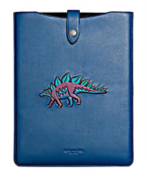 Beast blue leather iPad case