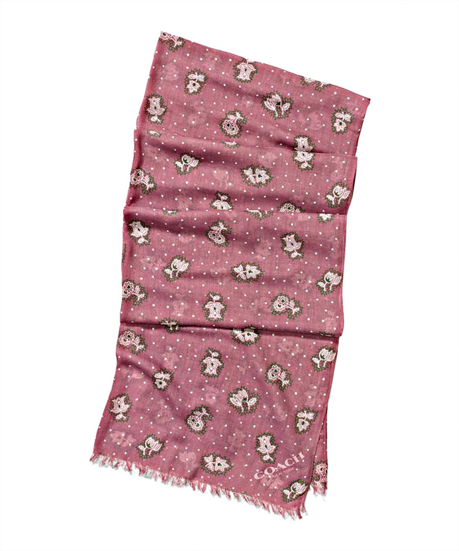 Desert Flower rose scarf Sale - coach