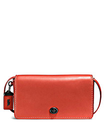 Dinky red leather cross body bag