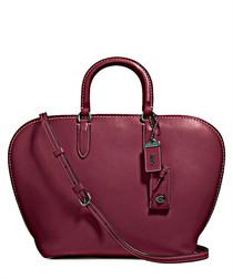 Dakotah Bordeaux red leather tote bag