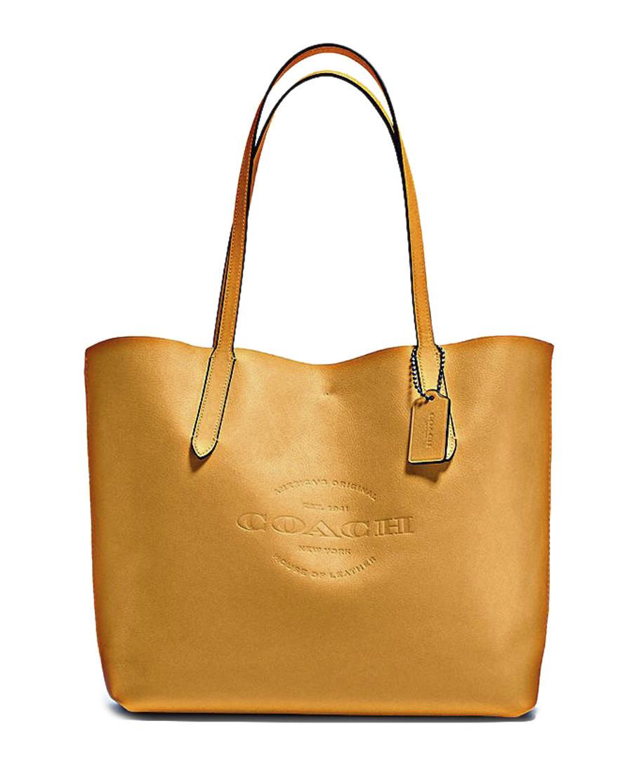 f09c828a5a6e Hudson mustard yellow leather bag Sale - Coach