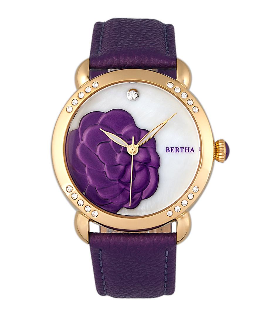 Daphne purple leather strap watch Sale - bertha