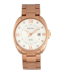 Amelia rose gold-tone steel watch