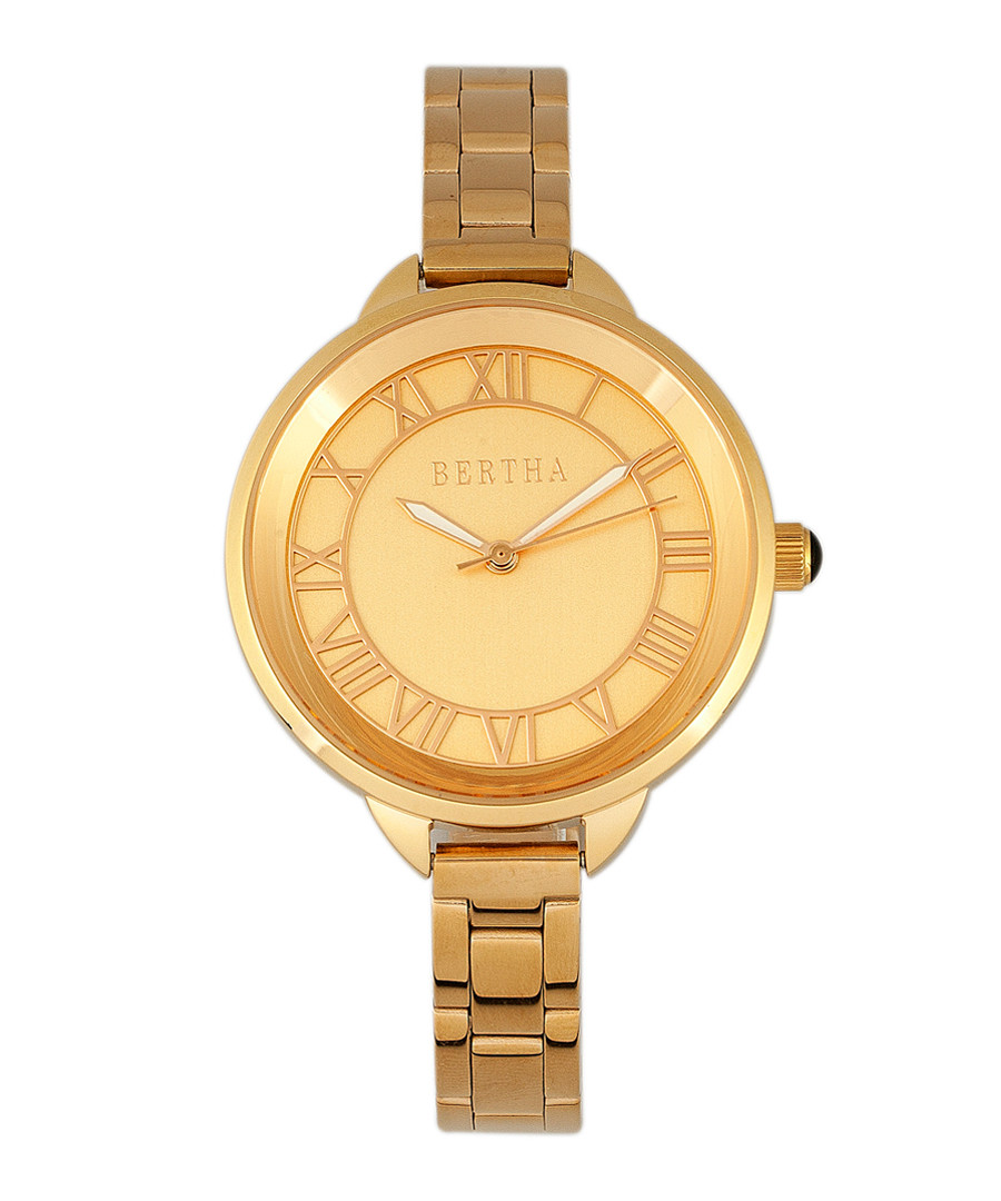 Madison gold-tone stainless steel watch Sale - bertha