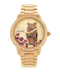 Madeline gold-tone steel watch