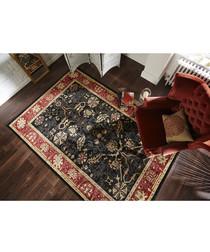 Arak black & rust rug 200 x 290cm