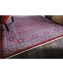 Astara red print rug 160 x 240cm