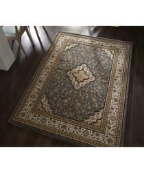 Temple grey print rug 120 x 170cm