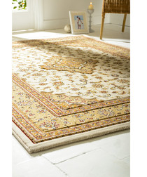 Temple cream print rug 80 x 150cm
