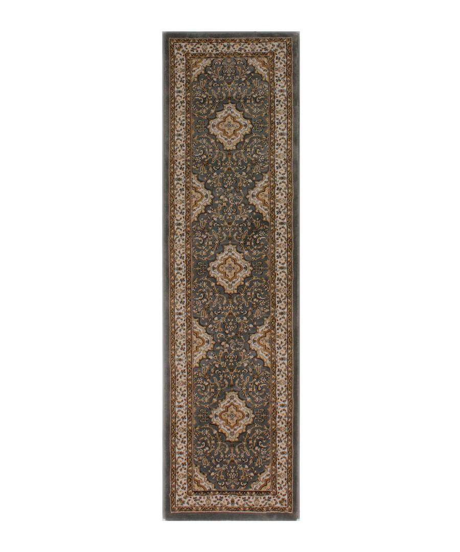 Temple grey print rug 60 x 230cm Sale - flair rugs