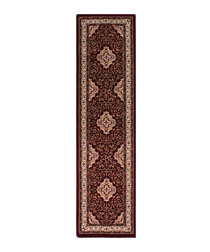 Temple red print rug 60 x 230cm