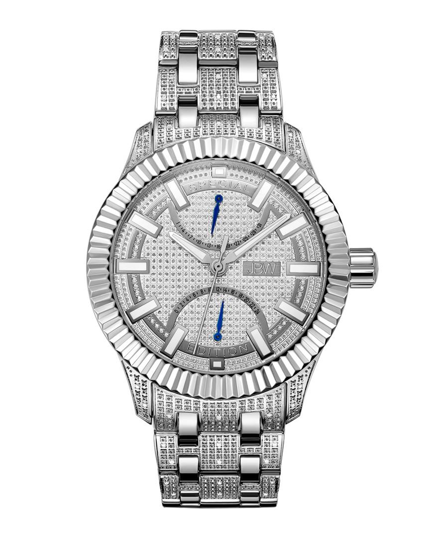 Crowne silver-tone steel watch Sale - jbw
