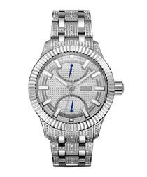 Crowne silver-tone steel watch
