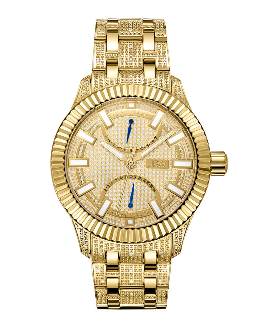 Crowne 18k gold-plated steel watch Sale - jbw