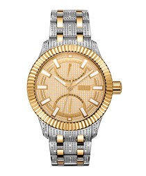 Crowne 18k gold-plated two-tone watch