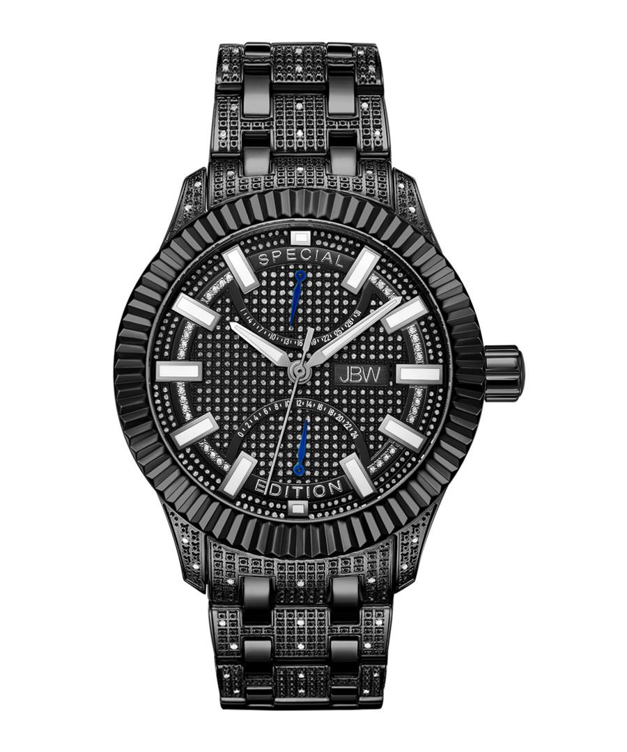 Crowne black stainless steel watch Sale - jbw