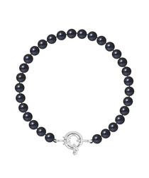 0.6cm black Tahiti pearl bracelet
