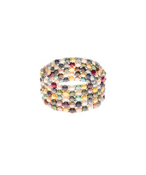 0.3cm multi-coloured pearl bracelet