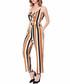 Black & brown stripe crop jumpsuit Sale - Cameson Sale