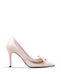 Apricot leather sheer bow courts