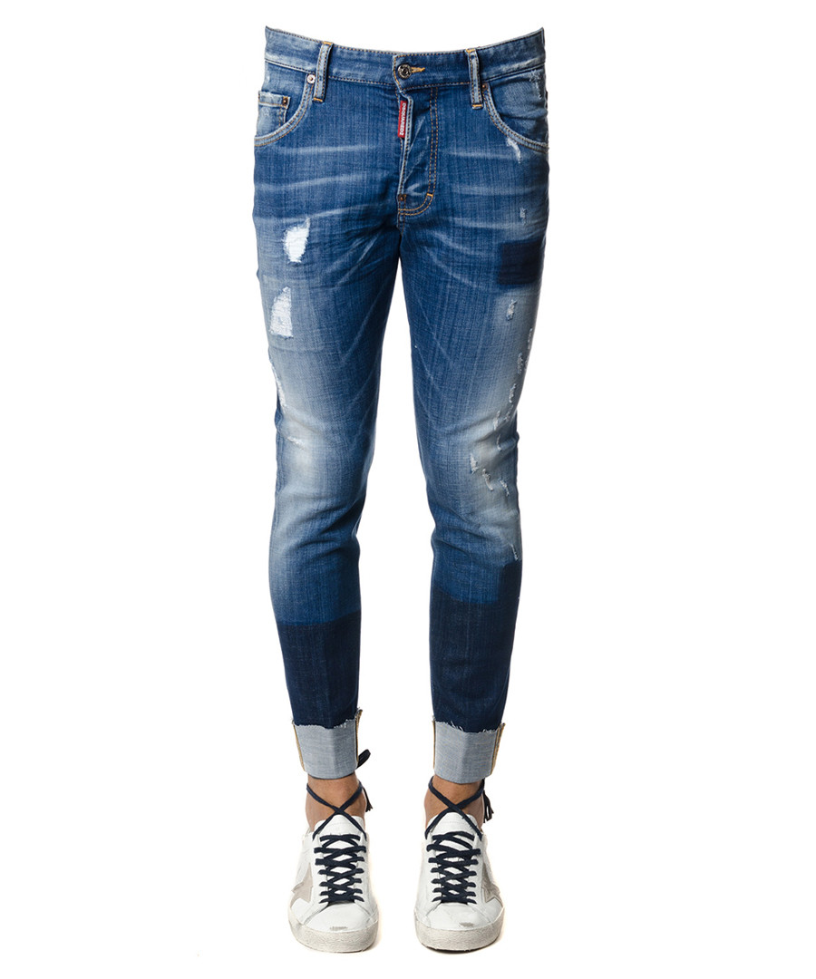 Men's Skater blue cotton jeans Sale - dsquared2
