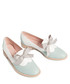 Blue & white leather ribbon loafers Sale - L37 Sale