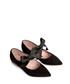 Black leather point ribbon ballet flats Sale - L37 Sale