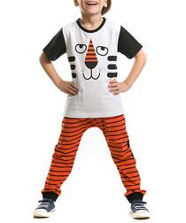 2pc Boy's Tiger Joe top & leggings set