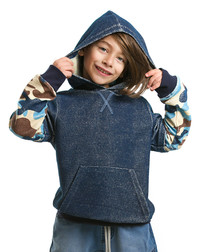 Boy's Street Boy blue cotton hoodie