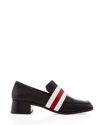Eli black leather slip-on shoes