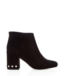Jules II black suede ankle boots