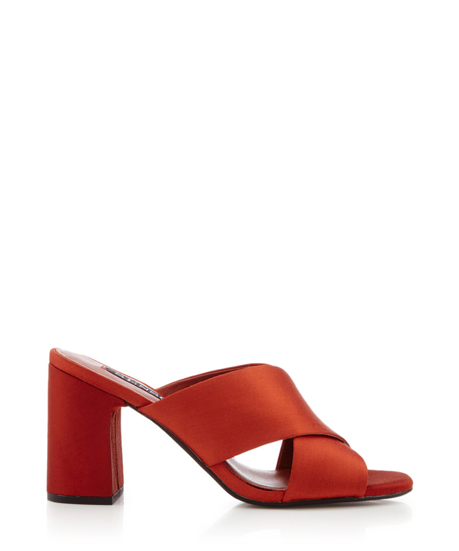 Marley orange leather mules Sale - Senso