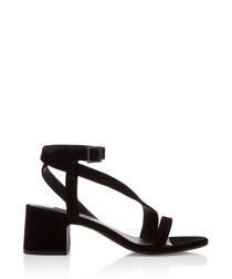 Nio I black suede strappy sandals